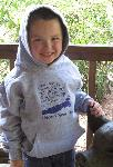 Click here for more information about Youth's gray CDF Hooded Sweatshirts with full-sized logo